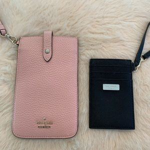 Kate Spade phone case and ID holder with lanyard